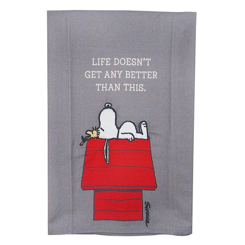 Snoopy茶巾-人生最棒莫若此【Hallmark-Peanuts 史努比禮品 】