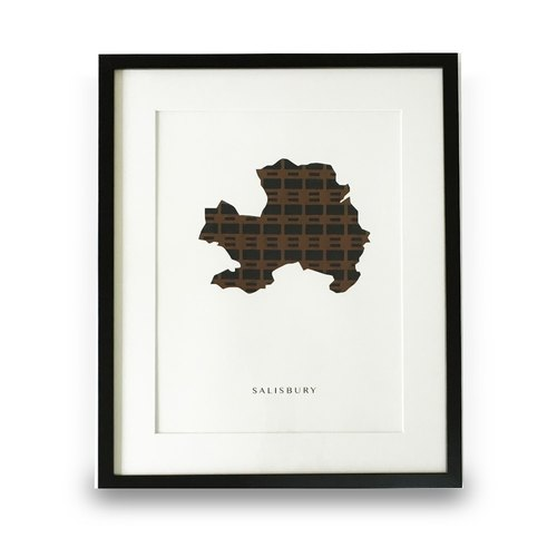 SALISBURY Music Cloth® City Map Home Decor Wall Art