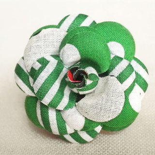 Brooch Green Dots Borders Stripes Mini Heroine