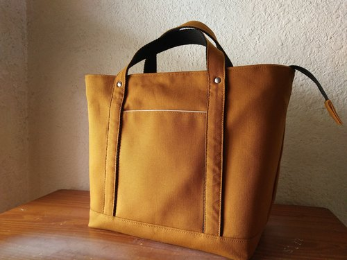 Beautiful day _ classic Tote bag (M number) / calm soil yellow