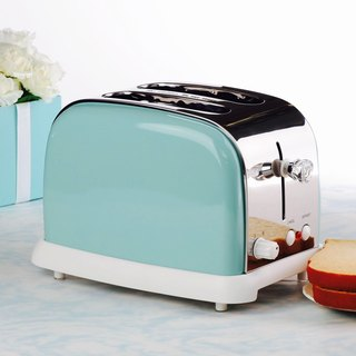 2 Slice 800W Stainless Steel Bread Oven Toaster - Tiffany Blue TR208B-TBD-BS