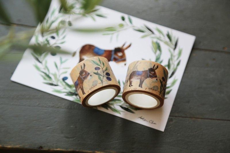 橄欖樹下的普羅旺斯驢-紙膠帶