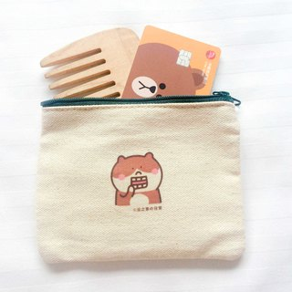 Taichung people's daily canvas coin purse (ticket clip) hand-printed Coin bag