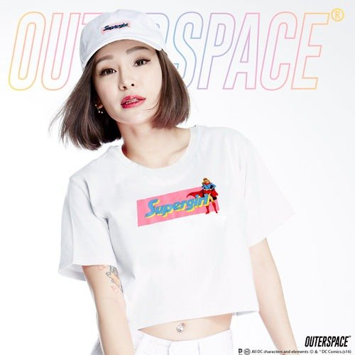 Product Name: OUTER SPACE X DC Justice League -SUPER GIRL pink color T (Taiwan Limited)
