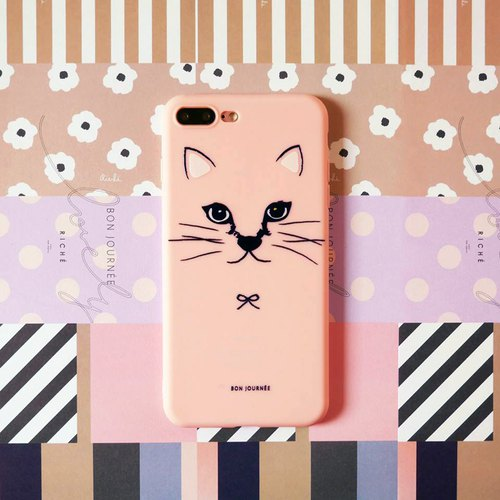 Pink meow phone shell