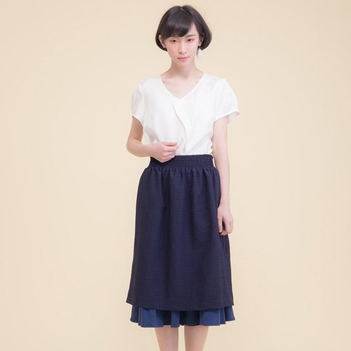 Hyperion Sunset double organic cotton skirt - blue