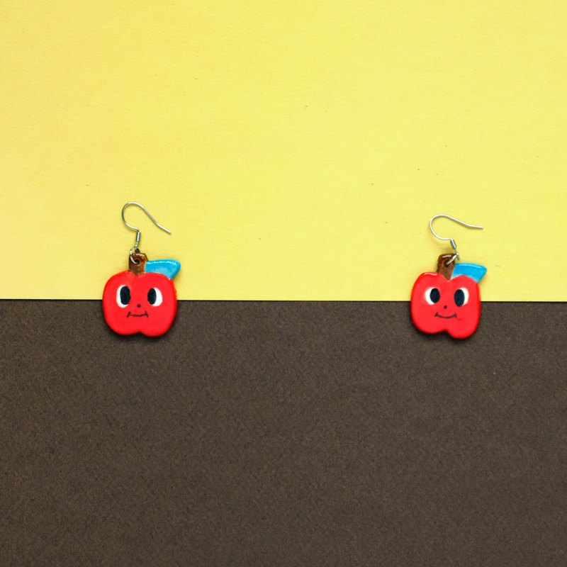 Apple ceramic earrings