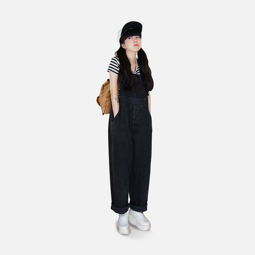 A‧PRANK: DOLLY :: VINTAGE retro brand LONDONJEAN with wide black version tannin suspenders