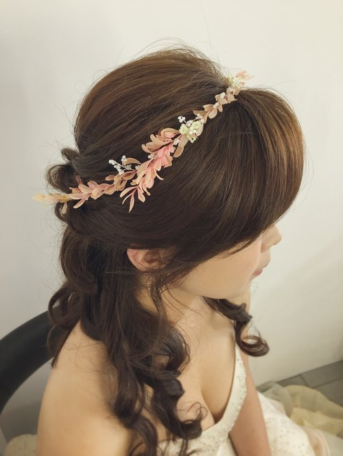 [Garland] romantic willow Chunshen, combined with natural plant beaded / bridal headdress / Accessories / garland / wreath / Corolla