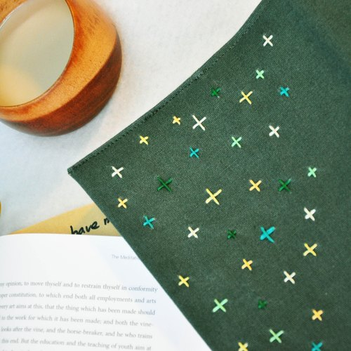 Hand clothes for the book Roadside Picnic [notebook] dark green canvas subsection (Big = A5)