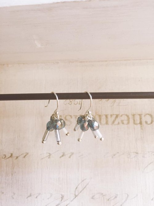 A Bead Earrings in Sterling Silver Pop Rocks