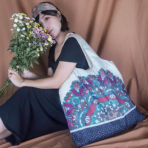 ENVIROSAX Australian Reusable Shopping Bag-Rolling Stone Peacock