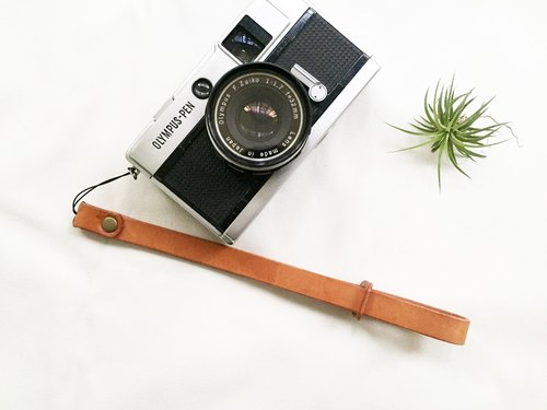 [Temperature series] leather leather camera wrist strap - close