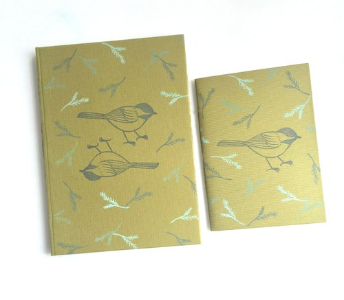 Lichen green handmade book A5 notebook