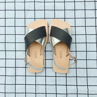 CLAVESTEP X Sandals - Leather Sandals - Ten - Black & Silver