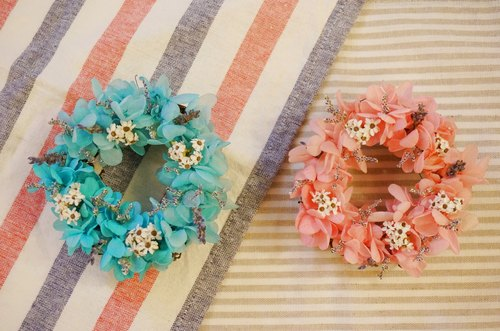 *Preserved Hydrangea Mini Valentine wreath: a combination*Dried Flower Flower