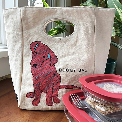 Bag / lunch bag / sports bag ► Canada fluf organic cotton environmental protection with the handbag - Wang puppy