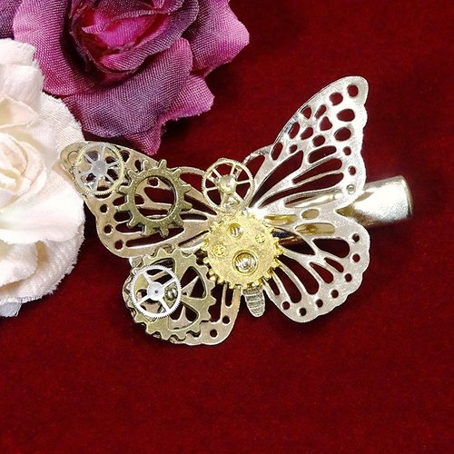 Butterfly gear hairpin _Steampunk