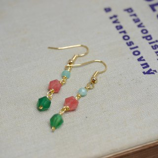 Natural stone earrings in two styles: gold and sterling silver