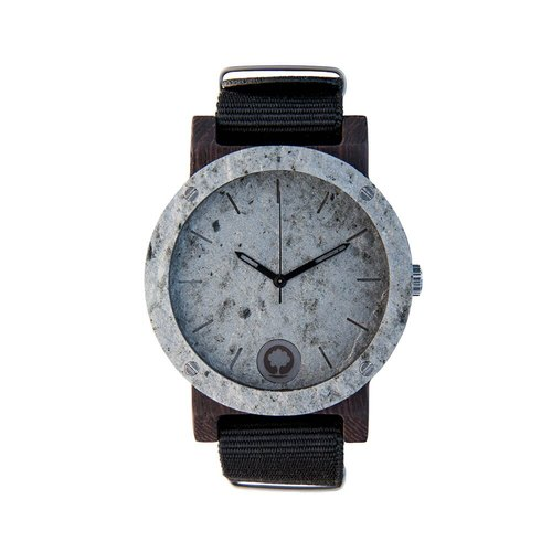 Plantwear European handmade wood watch -Raw series-Double Silver-Ebony bicyclic rock version