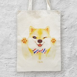 i package mountain package hand-painted wind canvas package-A3. Shiba dog