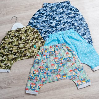 Double yarn flying squirrel pants - camouflage hedgehog digital hand made non-toxic flying squirrel pants children's clothing children's children