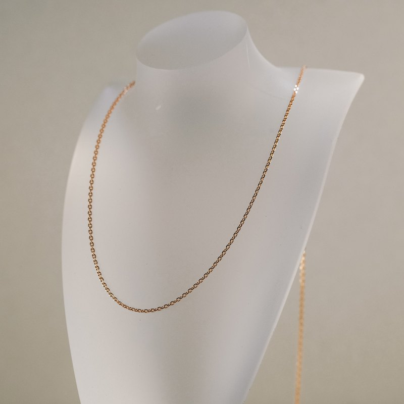 K gold necklace handmade thin chain flexible and free to adjust the length Italian K gold material