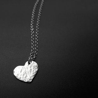 V12 - can not do the same silver necklace - water wave love shape - 925 sterling silver necklace - royal smith