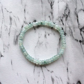 Journal-Arachnid Pure Natural Ice Flower Jade (Burma Jade) Fine Abacus Beaded Bracelet