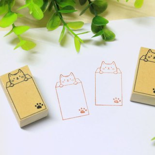 Envelope cat customized rubber stamp / hand account chapter / daily payment chapter / teacher chapter