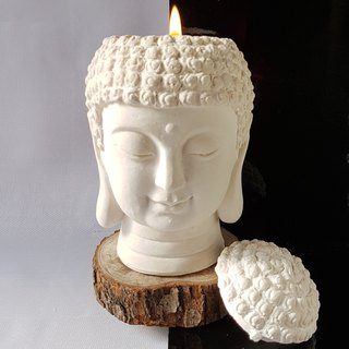 Aroma Stone, Meditation room decor, home decor, candle holder- Buddha's Head
