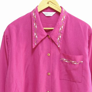 │Slowly│Peach Red-Old Shirt │vintage.Retro.Literature