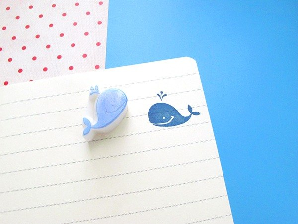 Apu handmade chapter mini whale seal stamp