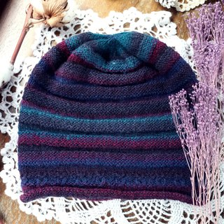 Handmade - winter berries - light texture - wool wool cap
