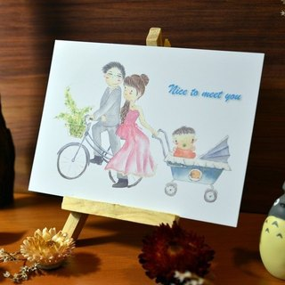 Exclusive Order - custom hand-painted watercolor births cards - postcards section (for Maggie)
