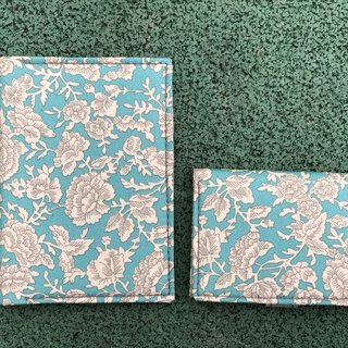 Washable Craft Paper . Fabric / White/ Flower/ Passport Holder