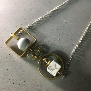 Marble Concrete x Brass Collection - Sterling silver necklace (MCB-007)