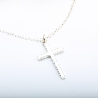 Large Cross Simple Neutral s925 sterling silver necklace Valentine's day gift