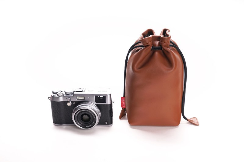 mi81 Camera sheep skin pouch (Brown)