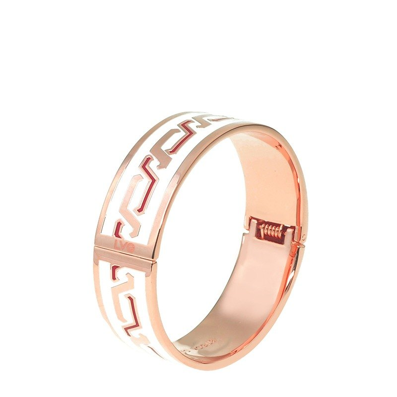 LVG Legend Vogue dazzling brown limited edition cloisonne enamel series opening bracelet (rose gold) -41803151277