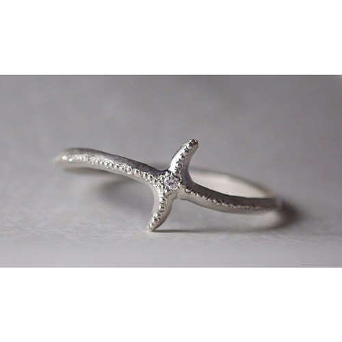 【受注生産品】Twinkle Comet ring SV950+Diamond
