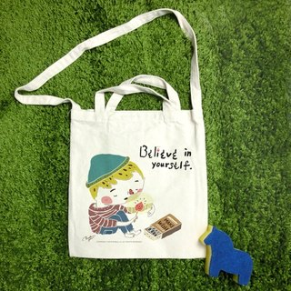 Believe in the power of the wind straight canvas bag