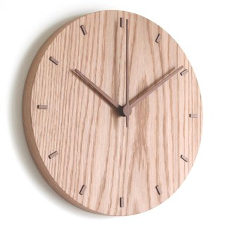 CLOCK_26 Taiwan handmade limited edition silent wall clock Oak Christmas exchange gift