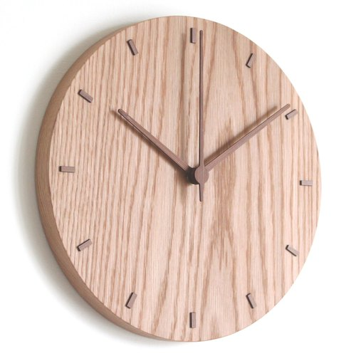 [New Release]CLOCK_26 Taiwan handmade limited edition silent wall clock white oak Oak