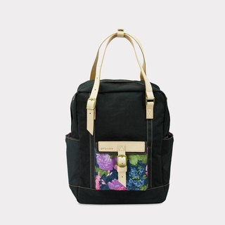 New Arrival【ZeZe Bag】DYDASH x 3way/hand bag/shoulder bag/backpack/diaper bag/contrast color(Calmly black flower )