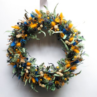 Flower Wreath! [Poseidon] Dry Flower Wreath Arrangement Christmas Opening