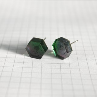 Resin Earrings / 453 / Leaf House - Single Stud