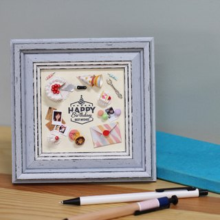 Miniature Happy Birthday Frame Customized Decoration Zakka birthday gift