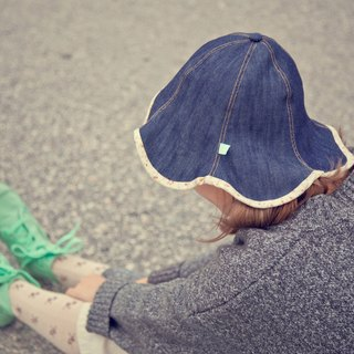 Denim_tulipa petal hat