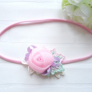 Handmade roses baby headband hair ornaments